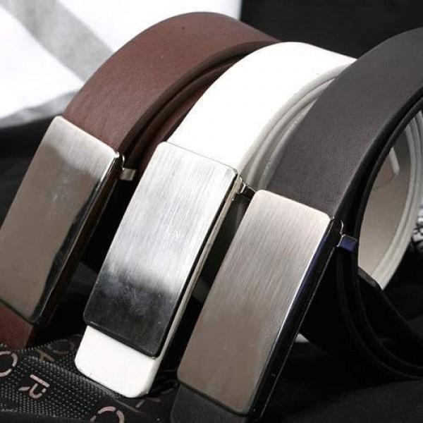 Ceinture Homme Classique Design elegant acier brosse Men Fashion