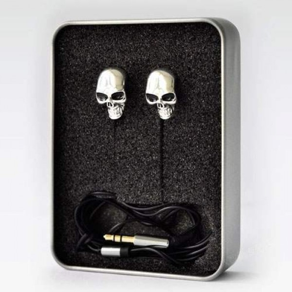 Ecouteurs Earpods mp3 player Phone 3,5mm Tete de Mort Skull Fashion Rock