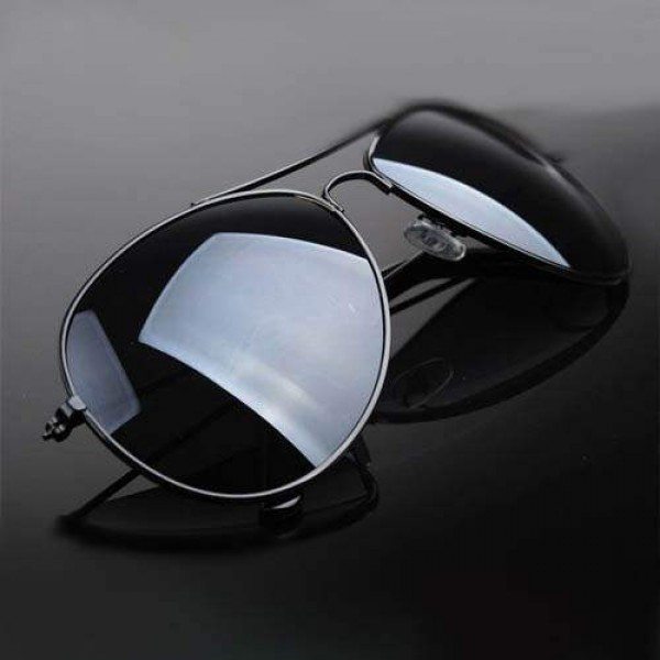 Lunettes de soleil Aviator Unisex Men/women Hype Fashion Sunglasses Noir ou Argent