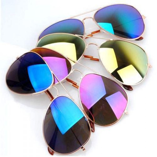 Lunettes de soleil Aviator Unisex Men/women Polarisees Colorées Fashion Sunglasses