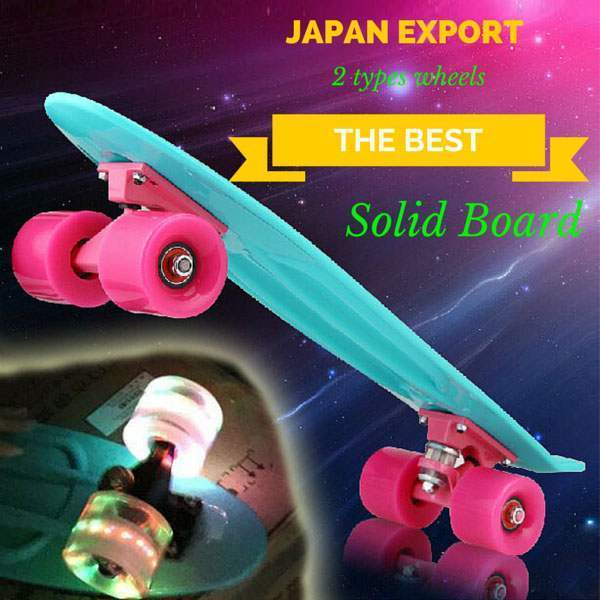 Skateboard Solide Cruising Figure Skate Planche Retro Penny Cruiser Personnalisable