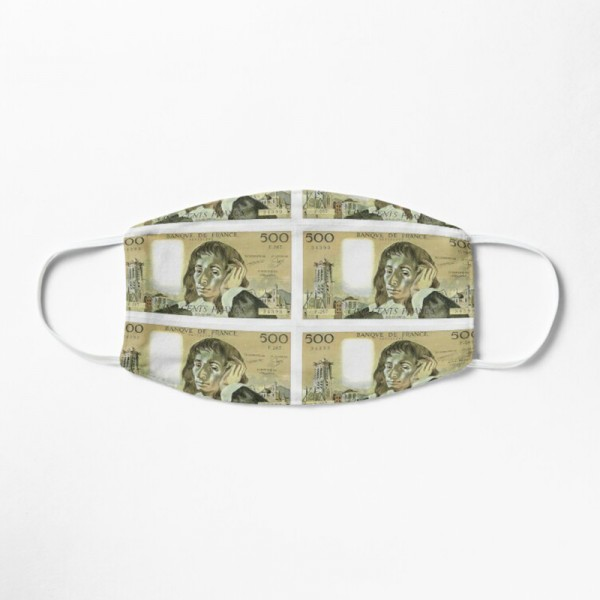 Masque Tissu Lavable Respirant Tendance Fashion Billet 500 Francs Pascal