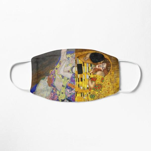 Masque Tissu Lavable Respirant Tendance Fashion Gustav Klimt The Kiss vs Virgins Maiden