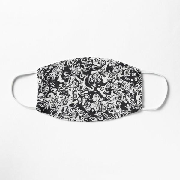 Masque Tissu Lavable Respirant Tendance Fashion Noir et Blanc Design