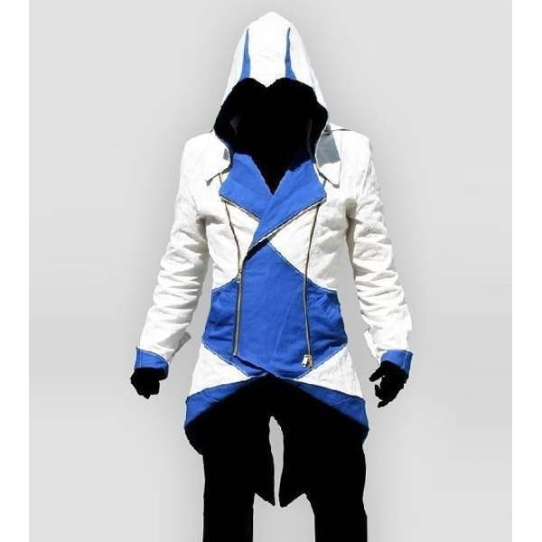 Costume assassins creed homme blanc bleu
