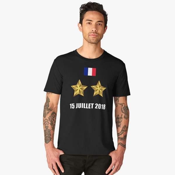 T-shirt Noir Imprimé | 15 JUILLET 2018 | Maillot Équipe de France 2018