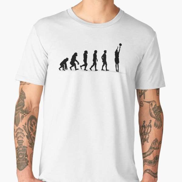 T-shirt Évolution | Imprimé Basketball