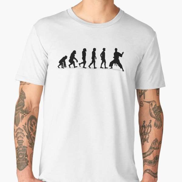 T-shirt Évolution | Imprimé Karaté