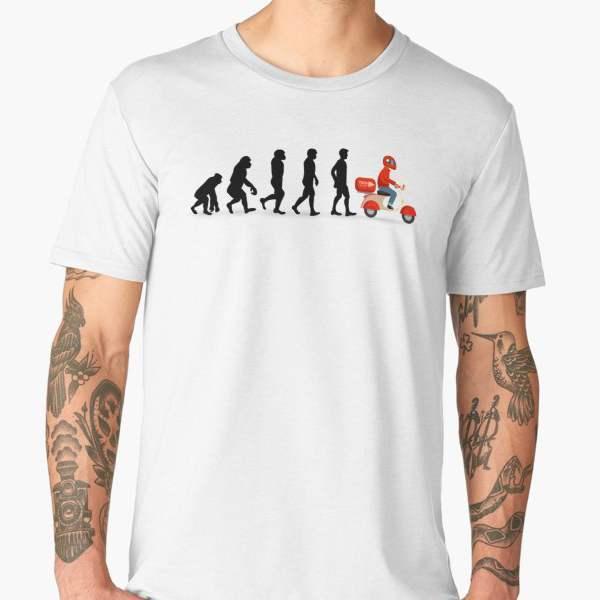 T-shirt Évolution | Imprimé Livreur Pizza