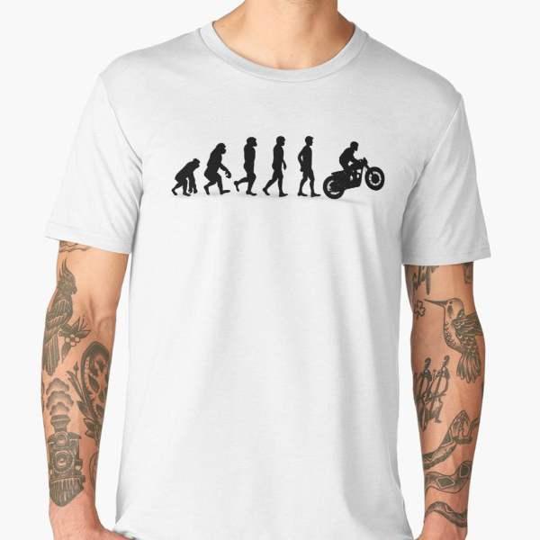 T-shirt Évolution | Imprimé Motard Biker