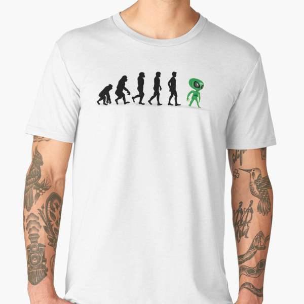 T-shirt Évolution | Imprimé Ovni Alien