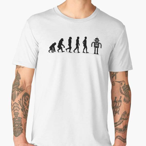 T-shirt Évolution   Imprimé Robot