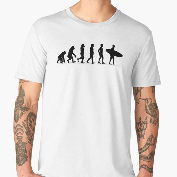 T-shirt Évolution | Imprimé Surfer