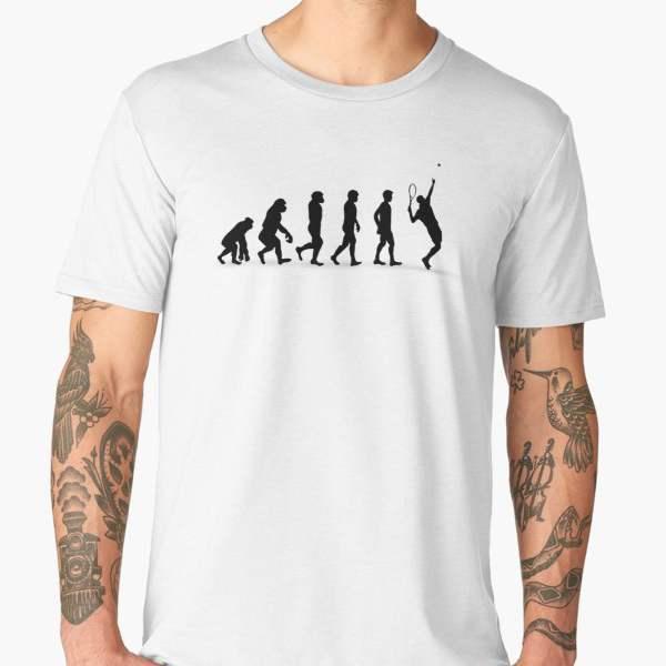T-shirt Évolution | Imprimé Tennis