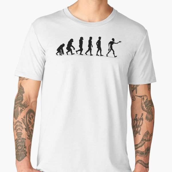 T-shirt Évolution   Imprimé Zombie