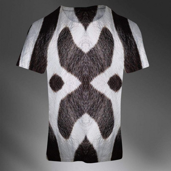 T-shirt Homme Fashion Imprime All Over Print Exclusif 3D Zebra Print Animal
