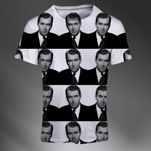 t shirt homme fashion imprime all over print exclusif beau gosse james stewart. Black Bedroom Furniture Sets. Home Design Ideas