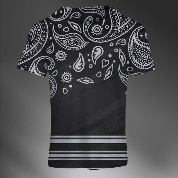 T-shirt Homme Fashion Imprime All Over Print Exclusif Paisley Latino HipHop style 90s