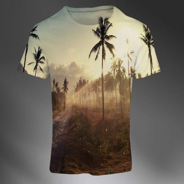 T-shirt Homme Fashion Imprime All Over Print Exclusif Paradise Palm Sunset