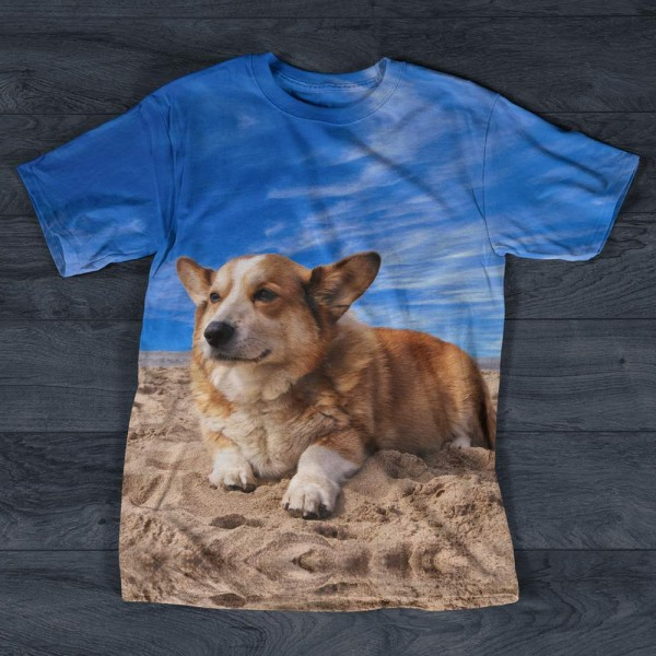 T-shirt Corgi Welsh Imprime All Over Print Exclusif
