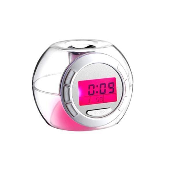 Réveil Alarme Crystal Nature 7 couleurs Globe Home clock