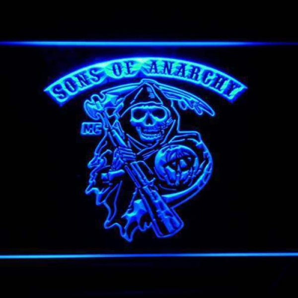 Sons of Anarchy Neon Lumineux multicolore Collector Home decor