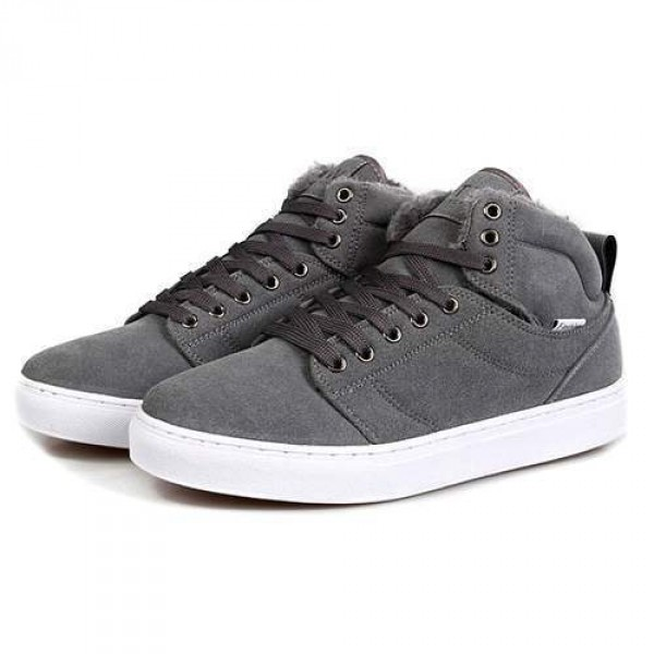 baskets homme sneakers confort fourrees outwear winter fashion gris. Black Bedroom Furniture Sets. Home Design Ideas
