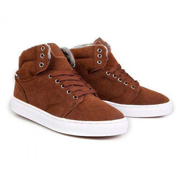 baskets homme sneakers confort fourrees outwear winter fashion marron. Black Bedroom Furniture Sets. Home Design Ideas