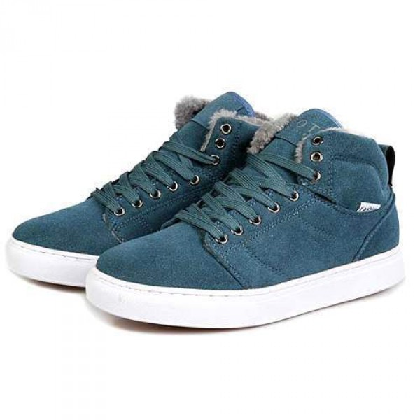 Baskets homme Sneakers Confort fourrees Outwear winter Fashion Vert