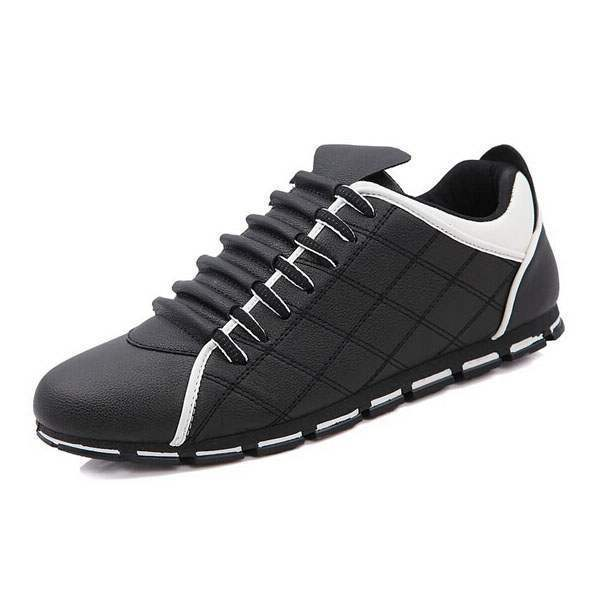 Baskets Homme Sport Design Fashion luxe Men Sneakers respirables Noir