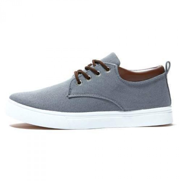 Baskets Chaussures Toile Casual Look Summer Trendy Gris