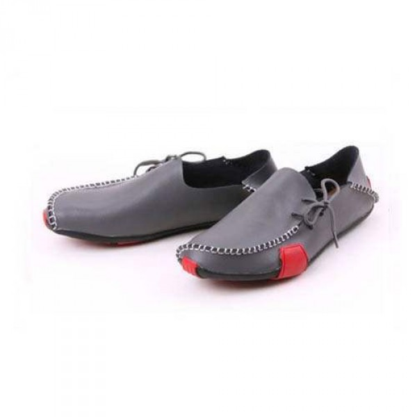 Sport Homme Luxe Chaussures Decontracté Elegance Bateau Gris Mocassin Cuir Fashion W29IYeEDH