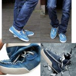 Chaussures Bateau Homme Fashion Slippers Jean Denim Style Gris