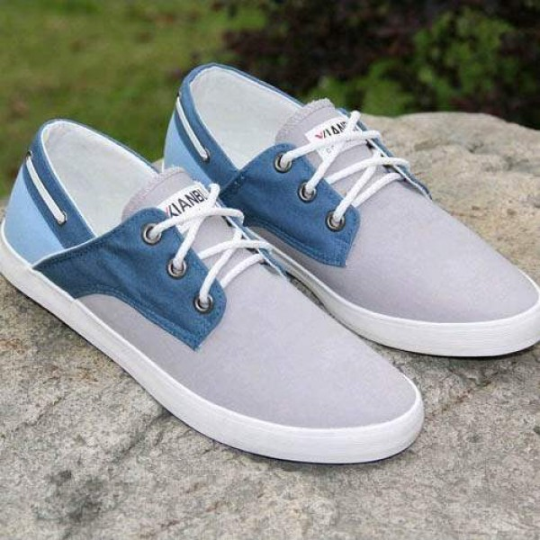 chaussures bateau homme sneakers casual shoes canvas toile chic bleu. Black Bedroom Furniture Sets. Home Design Ideas