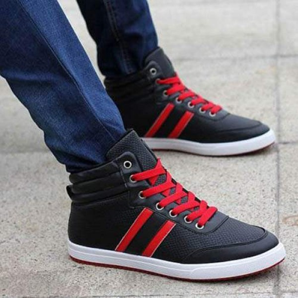 Baskets Homme Montantes Winter Sneakers Casual Sport Noir