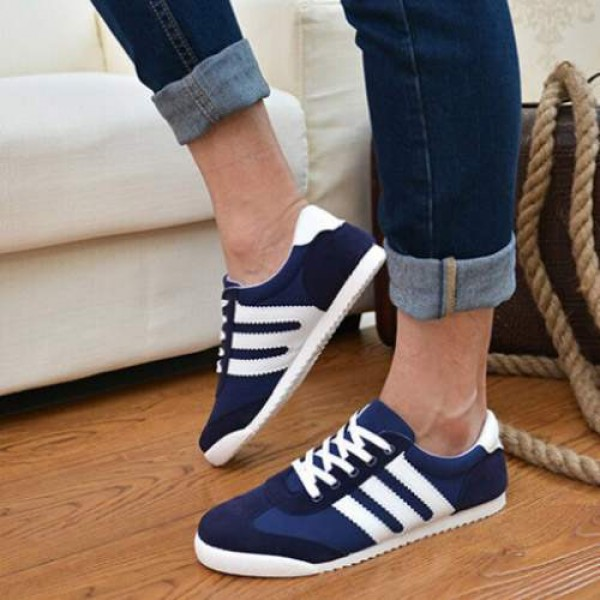 Baskets Homme Running Style Urban Sneakers Men Bleu