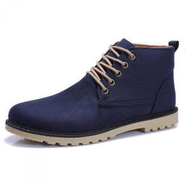 Chaussures Homme Bottines Casual Suede Elegant Fashion confortable Style Bleu