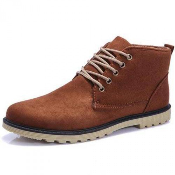 Chaussures Homme Bottines Casual Suede Elegant Fashion confortable Style Marron