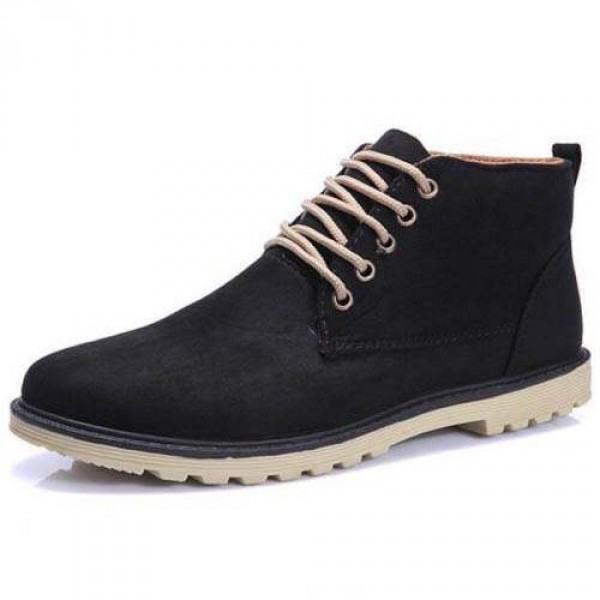 Chaussures Homme Bottines Casual Suede Elegant Fashion confortable Style Noir