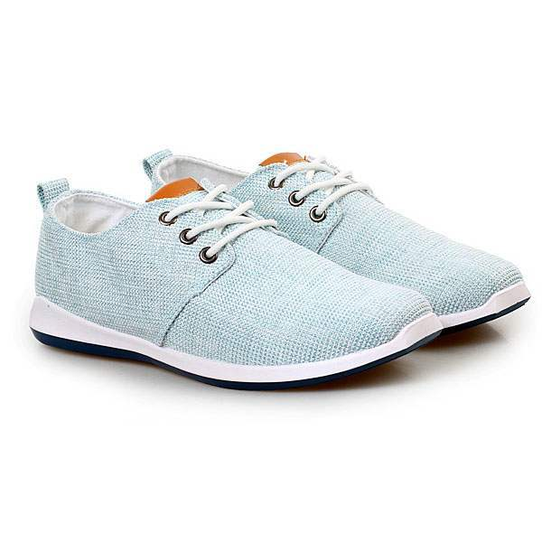 Chaussures Homme Toile Casual Summer Sport Confort lacets Bleu clair