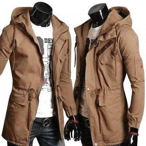 Blouson Veste Sweater Homme Fashion Militaire Spirit Outwear Design Men Beige