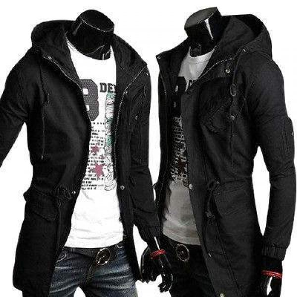 Blouson Veste Sweater Homme Fashion Militaire Spirit Outwear Design Men Noir