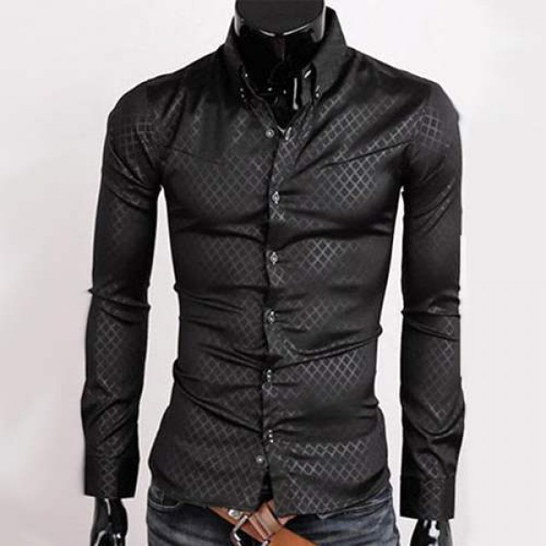 Chemise Homme Stylish Classic Slim fit Imprime Business Fashion Men