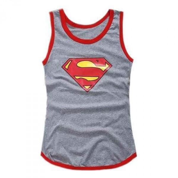 tshirt debardeur slim fit homme superman swag men fashion