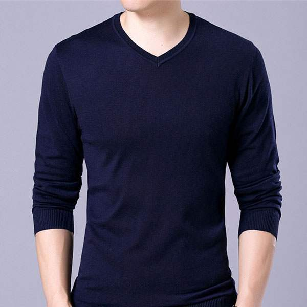 Pull Homme classique Elegant Col V maille fine
