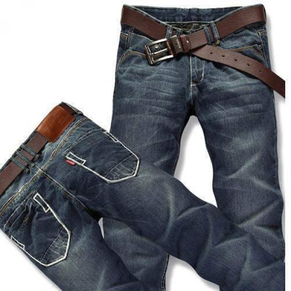Jean Denim Homme Men Fashion coupe droite Style casual