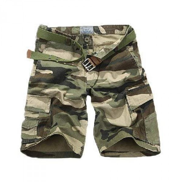 Short Bermuda Homme Fashion Camouflage Men Casual Khaki
