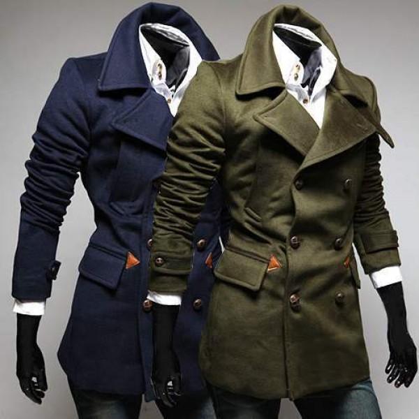 trench coat manteau homme classique elegant epais fashion. Black Bedroom Furniture Sets. Home Design Ideas