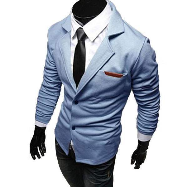 veste croisee homme blazer costume taille ajustee fitted men outfit bleu clair. Black Bedroom Furniture Sets. Home Design Ideas