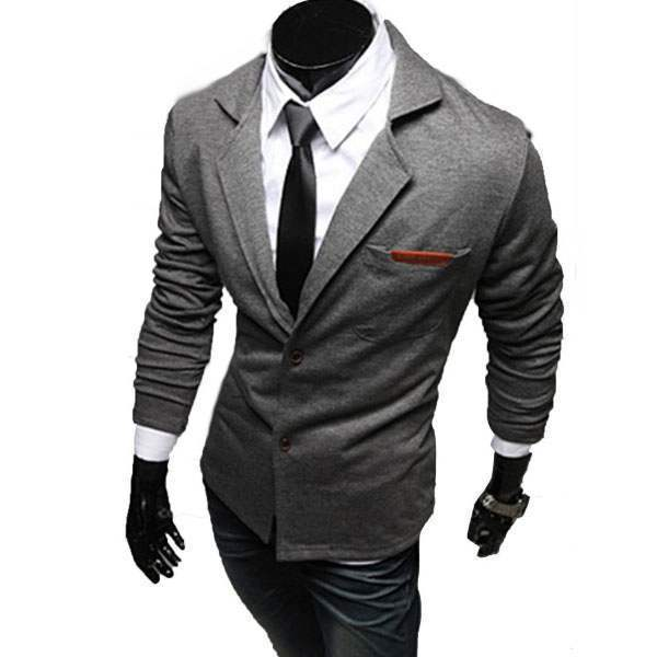 Veste Croisee Homme Blazer Costume Taille ajustee Fitted Men Outfit Gris